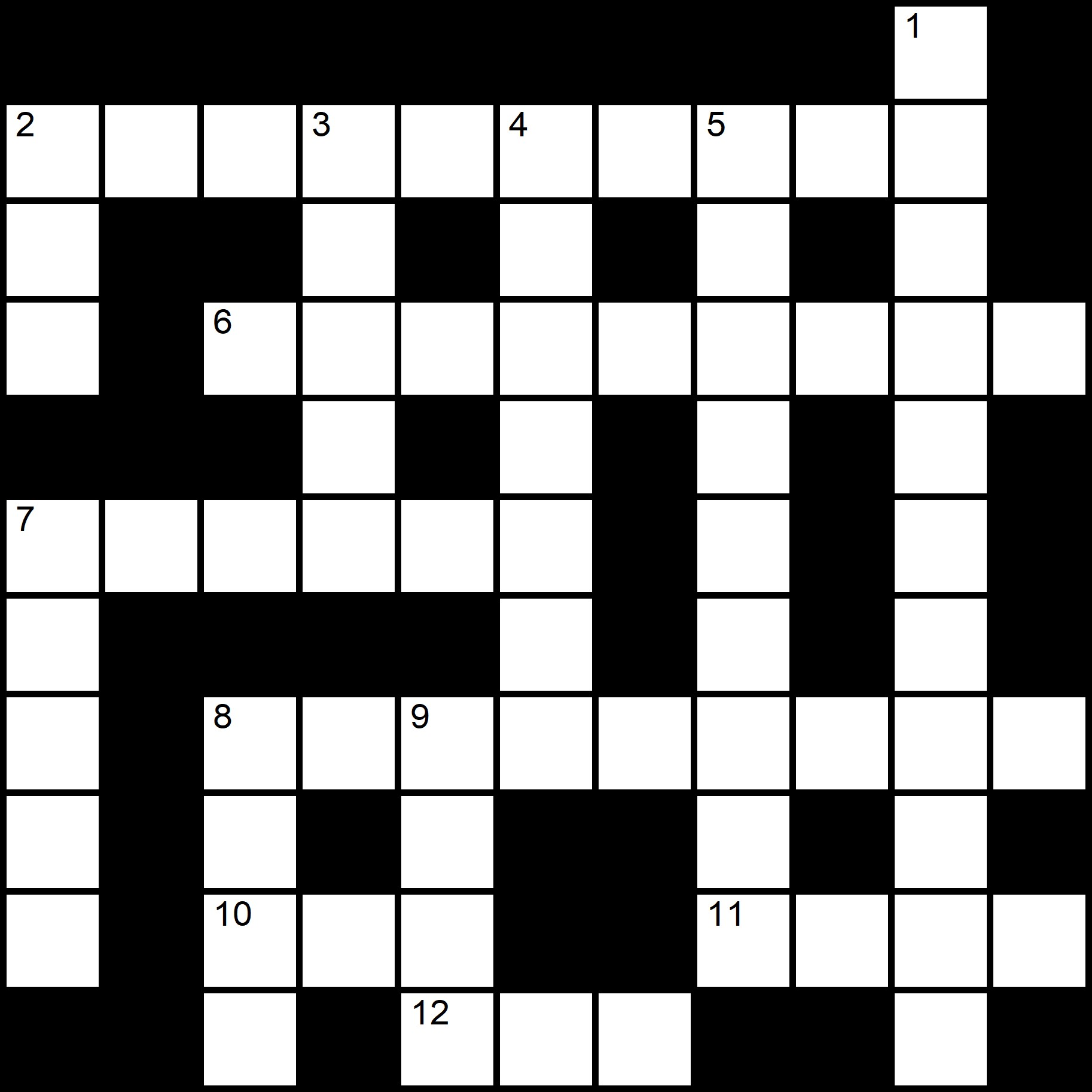 Beginner Crossword Puzzles Printable - Amsterdam - Crossword number One