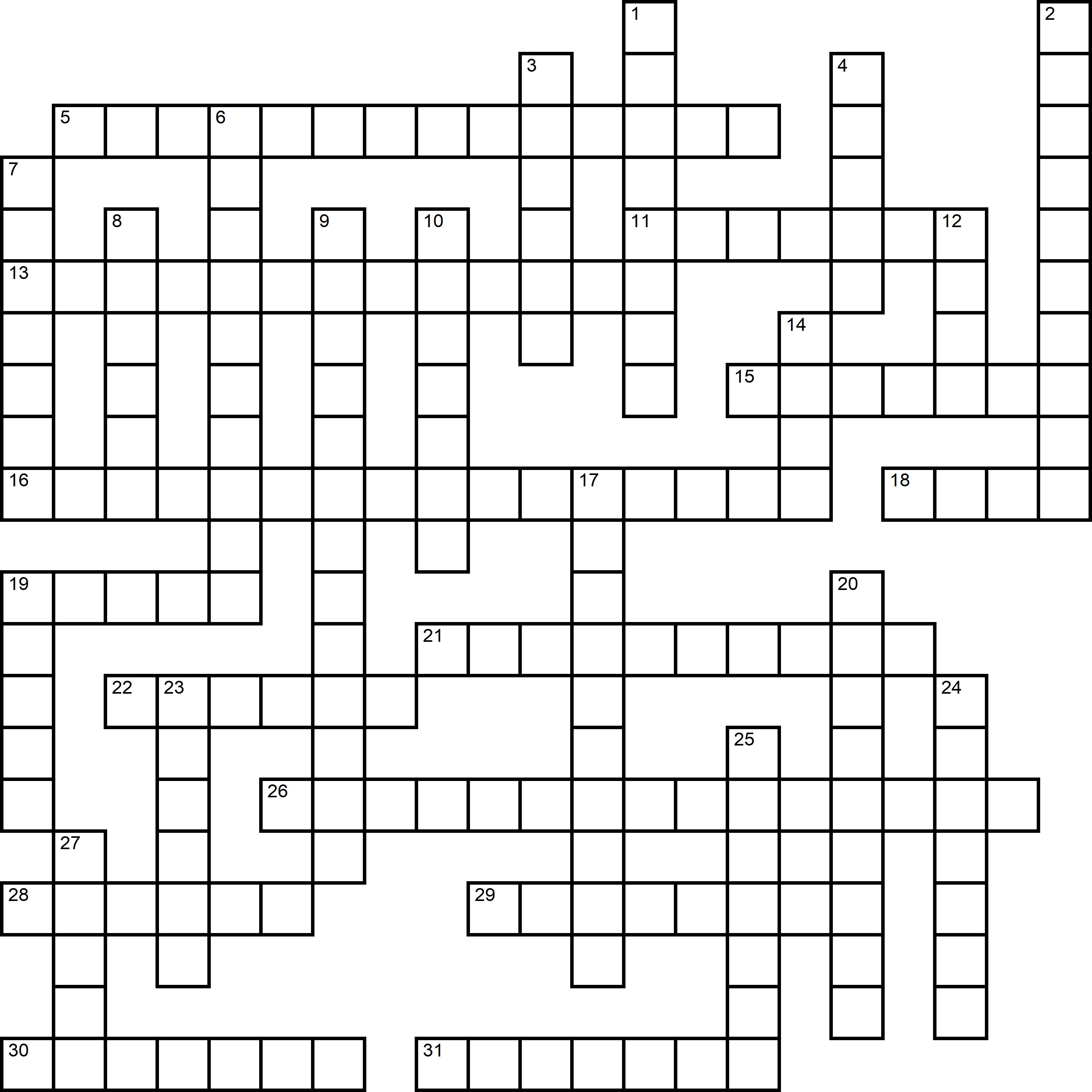 Easy Crossword About Children's Day