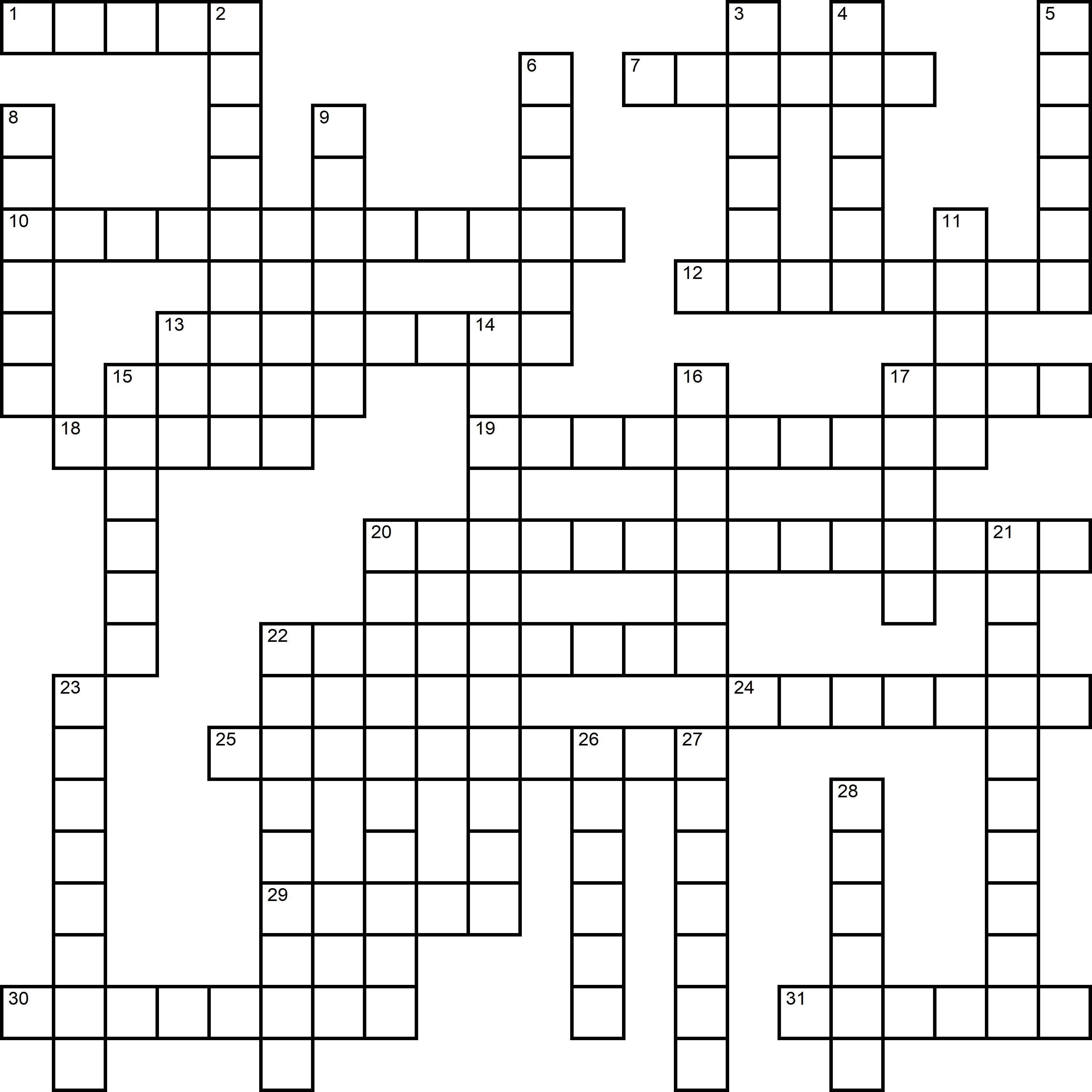 Easy Crossword About Flowers