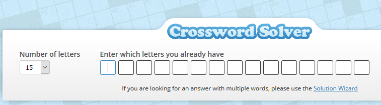 Crosswordsolver.org crossword solver tool