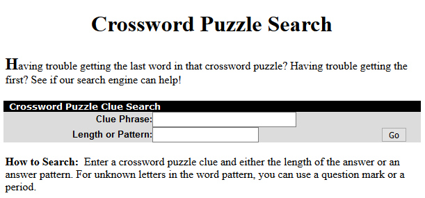 oneacross.com crossword puzzle clue search