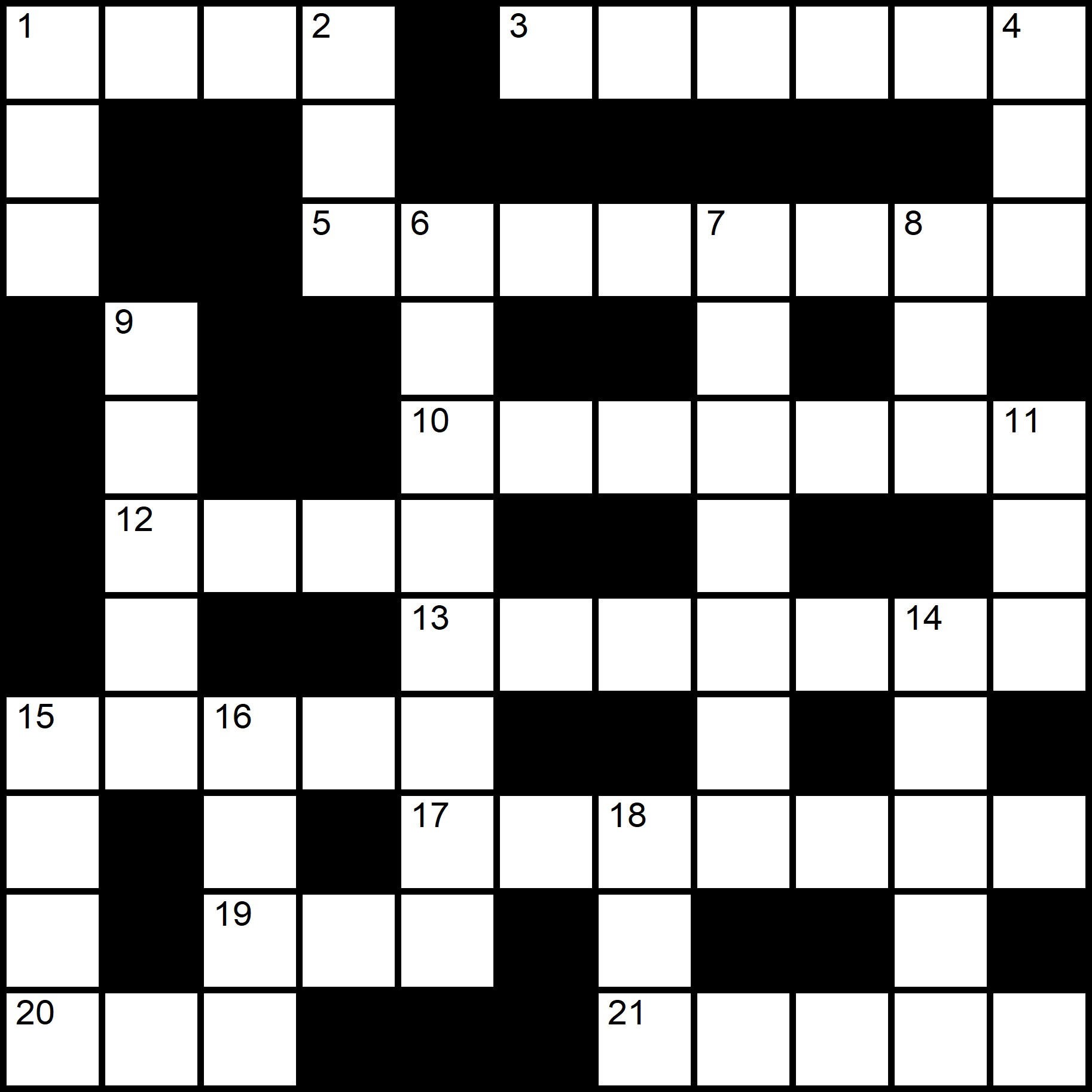 Easy Printable Crossword Puzzles - Placidus Flora - Crossword number two