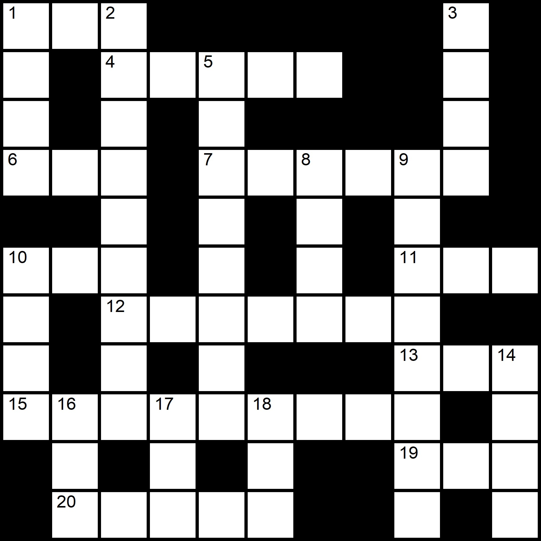 Easy Crossword Puzzles  - Placidus Flora - Crossword number six
