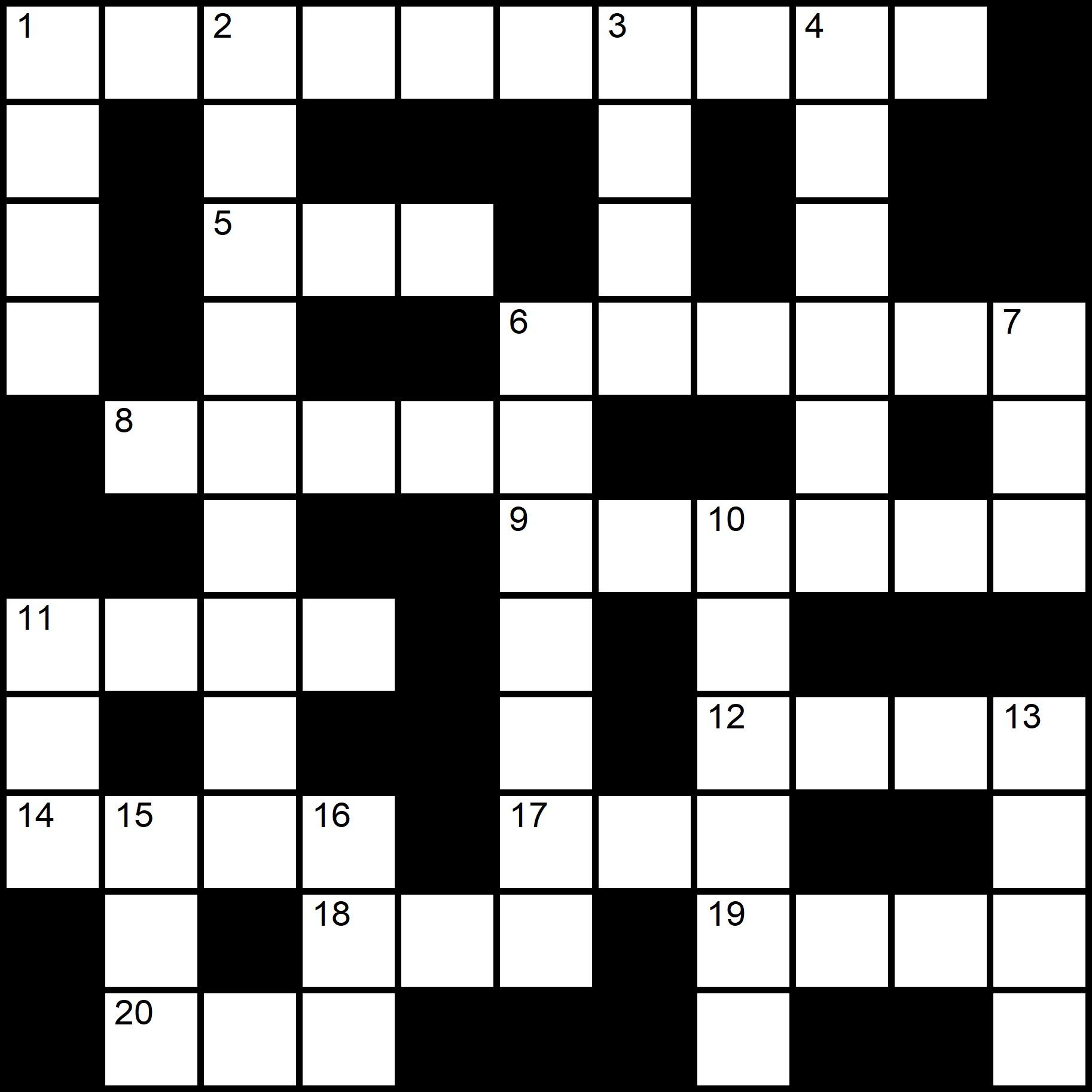 Easy Printable Crosswords  - Placidus Flora - Crossword number seven