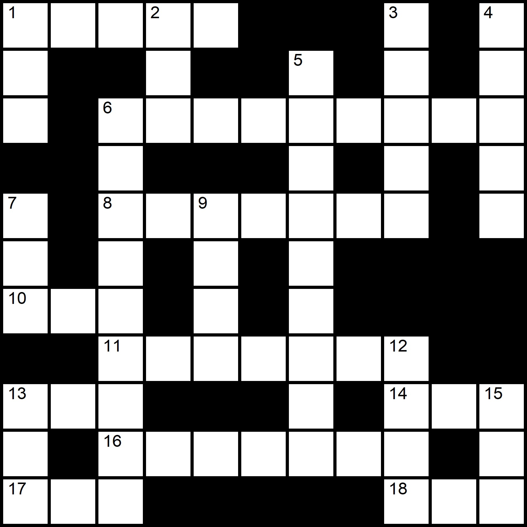 Simple Crosswords - Placidus Flora - Crossword number ten