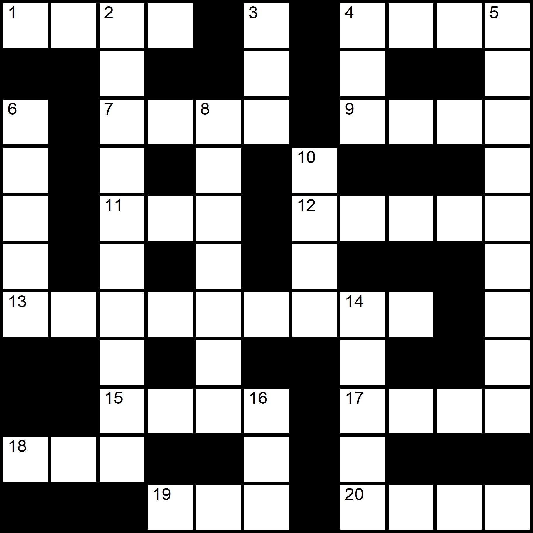Simple Crossword Puzzles - Placidus Flora - Crossword number twenty-two