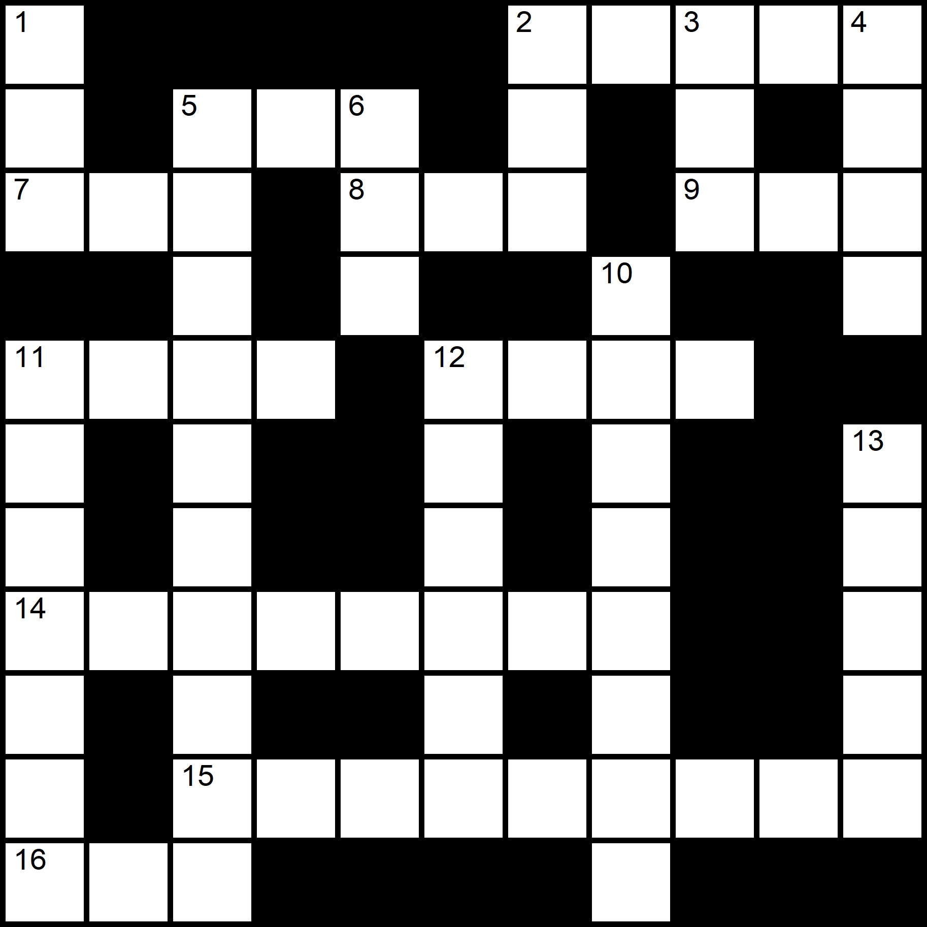 Free And Printable Crosswords In English - Placidus Flora - Crossword number twenty-seven