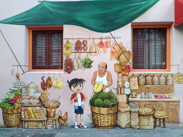 Street-Art in Singapore - Courtesy of and pictured by Sasha India  - Click here to see the original.
