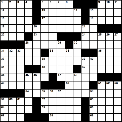 Themed Printable Crossword Puzzle - Pascal Baylon-Dietmar Themed Crossword Series - Crossword number one