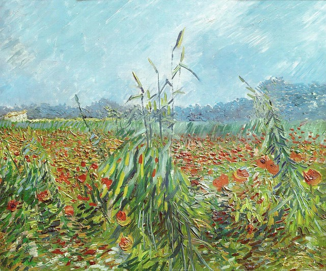 Vincent Van Gogh - Corn Fields and Poppies - Courtesy of and pictured by Irina - Click here to see the original.