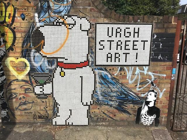 Dog says: urgh street art!
