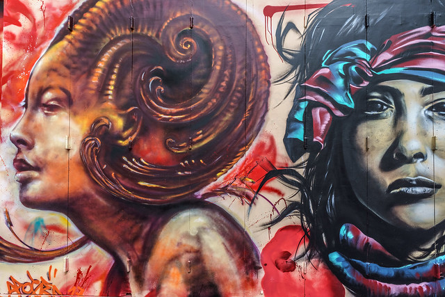 Street art - Graffiti-Girls - Clermont-Ferrand, France - Courtesy of and pictured by x1klima - Click here to see the original.