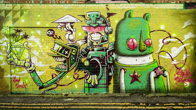 Street Art - Lost Souls - Brighton, East Sussex, UK - Courtesy of and pictured by  Derek Σωκράτης Finch - Click here to see the original