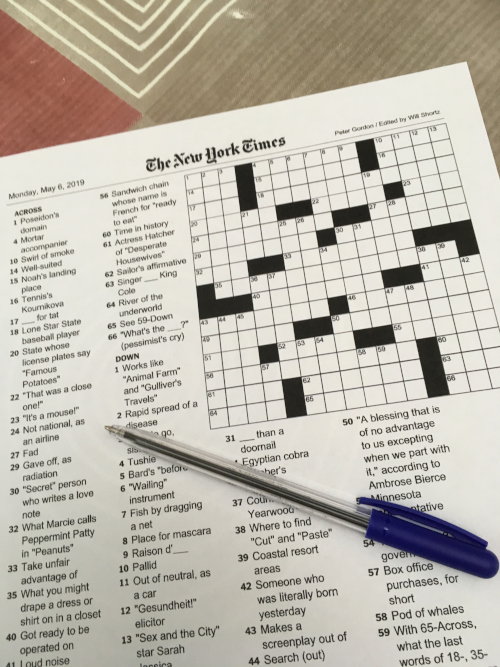 New York Times Crossword Puzzle