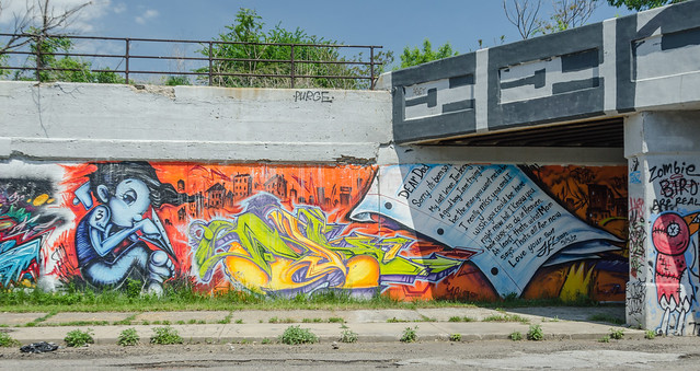 Street art - Letter to Dad - picture by Mr Morgan Davis - Detroit, Michigan, USA