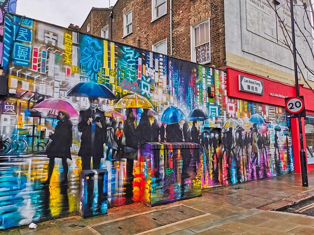 Street art - Forgiveness - Camden, London, UK.