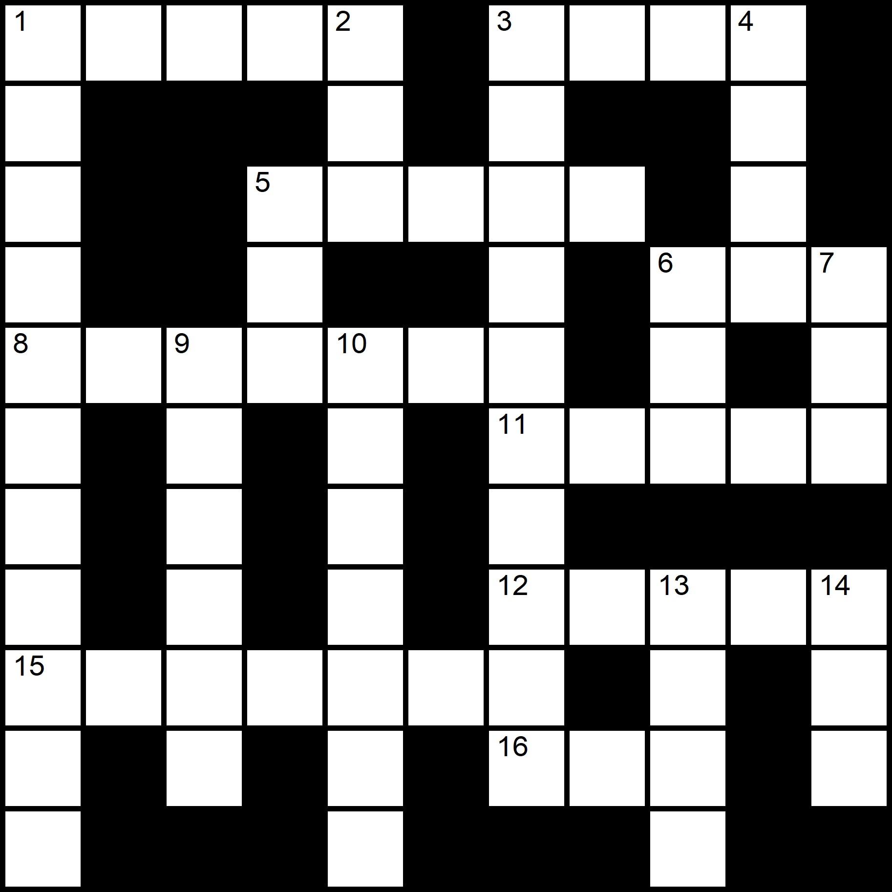 Easy Crosswords Printable - Placidus Flora - Crossword number nine