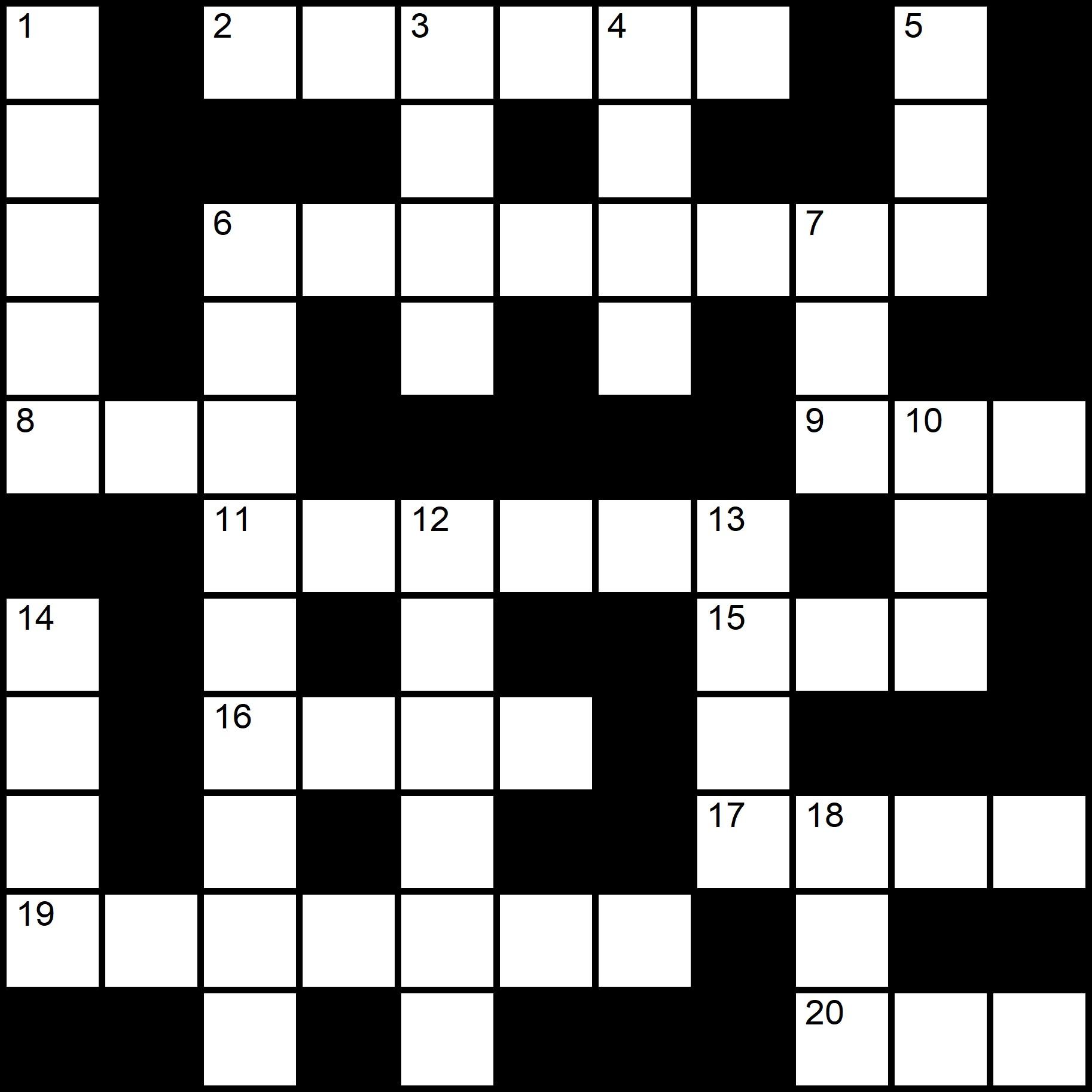 Simple Printable Crosswords - Placidus Flora - Crossword number twenty-three