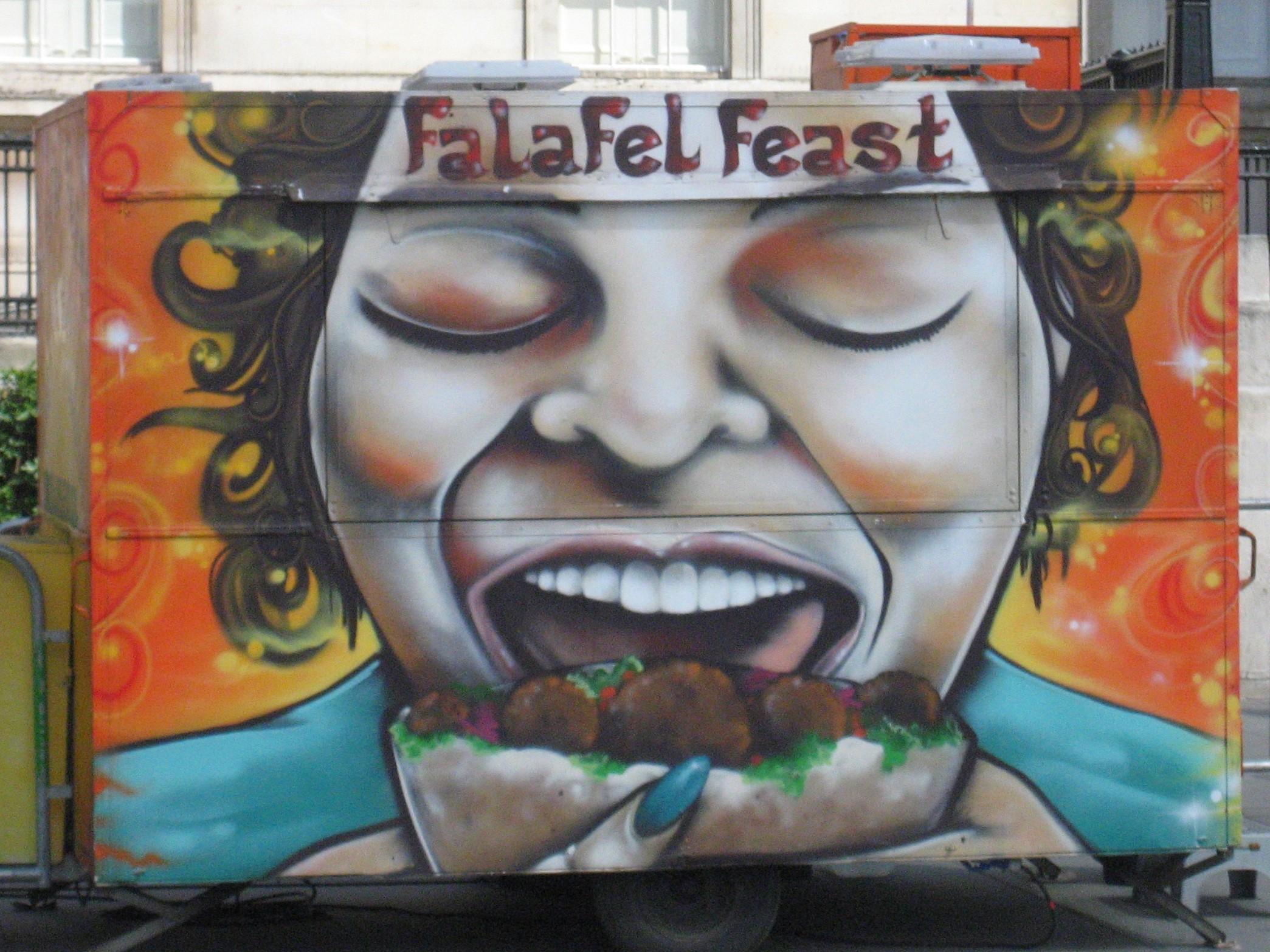 Food falafel - Street Art UK - London - by Steve Nimmons